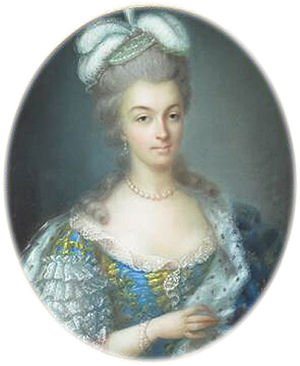Anne Vallayer-Coster - Queen Marie-Antoinette (1780)
