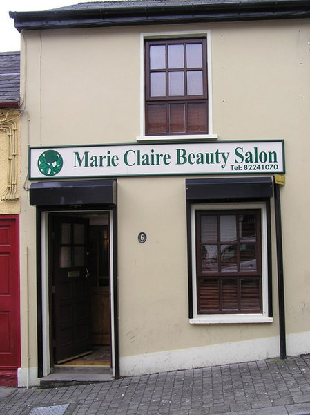 file marie claire beauty salon omagh wikimedia commons. Black Bedroom Furniture Sets. Home Design Ideas