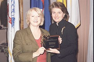 Susan B. Anthony List - In April 2003, Representative Marilyn Musgrave (left) received an award from SBA List President Jane Abraham.