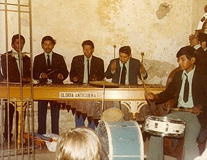 Music of Guatemala - A Guatemalan marimba band.