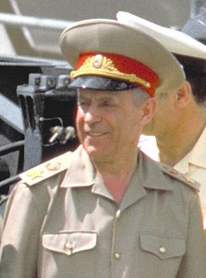 Sergey Akhromeyev - Marshal of the Soviet Union Sergey F. Akhromeyev during his visit to the United States in 1988