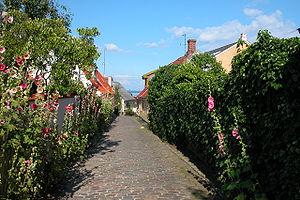 Ærø - Marstal, largest town on the island