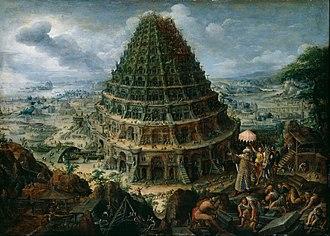 Marten van Valckenborch - The tower of Babel