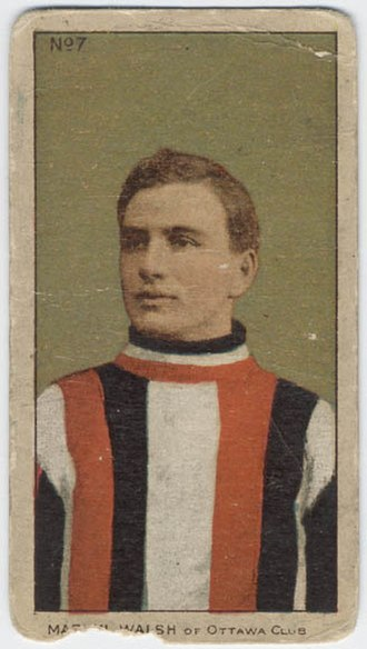 Marty Walsh (ice hockey) - Marty Walsh on a 1910 tobacco card.