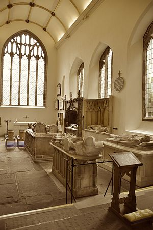 Priory Church of St Mary, Abergavenny - Tombs with effigies in the Herbert Chapel