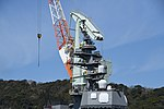 Mast of JS Fuyuzuki(DD-118) right front view at JMU Maizuru Shipyard April 13, 2019.jpg