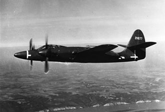McDonnell XP-67 - XP-67 in flight