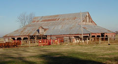 The McNaughton Barn in 2001, prior to extensive renovation