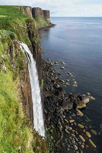 Ellishadder - Mealt waterfall with Kilt Rock behind