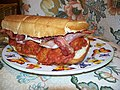 Meatball and bacon submarine sandwich.jpg