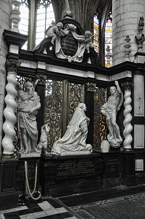Lucas Faydherbe -  Funeral monument of archbishop Andreas Creusen in the St. Rumbold's Cathedral, Mechelen