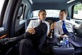 Medvedev and Obama in back of limo.jpg