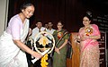 Meira Kumar lighting the lamp at a function of the presentation of Annual Awards of National Trust and Trust's newly designed website, in New Delhi on September 26, 2007.jpg