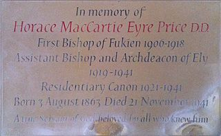 Horace Price Bishop in Fukien; Archdeacon of Ely; British Anglican missionary bishop