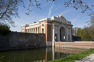 Menin Gate World War I memorial in Ypres, Belgium