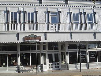 Sutton County, Texas - Mercantile Garden, located at the foot of the hill containing the Sutton County Courthouse