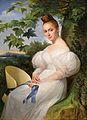 Merry-Joseph Blondel Porträt einer jungen Frau mit Strohhut 1830.jpg