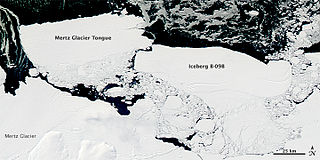 Iceberg B-9 Antarctic iceberg that calved in 1987