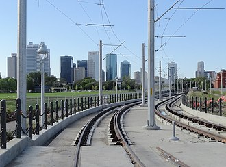 Metro Line - Metro Line approaching Downtown Edmonton