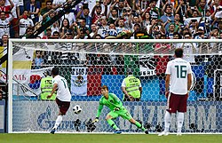 9e4516034f1 Vela converting a penalty kick against South Korea at the 2018 FIFA World  Cup