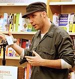 Arndt in 2007, spreken op Cody's Books over Little Miss Sunshine.