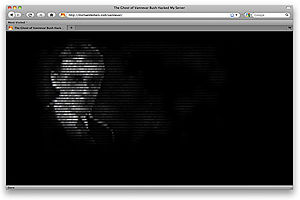 Digital art - Michael Demers, 2009. The Ghost of Vannevar Bush Hacked My Server.