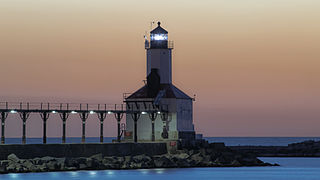 Michigan City East Light lighthouse in Indiana, United States