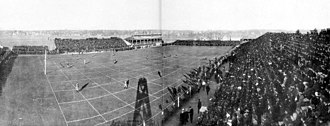 Regents Field - Photograph taken from a specially erected platform prior to kick-off in the 1904 Michigan–Chicago game at Regents Field.