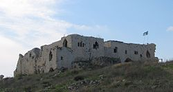 The Majdal Tower Fortress on the former site of Majdal Yaba, 2008