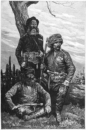 Principality of Guria - Militiamen from Guria, 1887