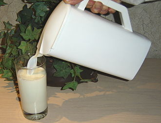 Pitcher (container) - Plastic pitcher of milk