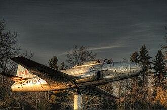 St. Albert, Alberta - RCAF jet mounted by Millennium Park
