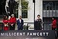 Millicent Fawcett Statue 04 - Helen McRory Speaks (40788591705).jpg