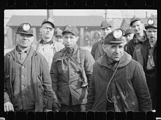 Mount Pleasant, Pennsylvania - Miners at American Radiator Mine, Mount Pleasant, 1936