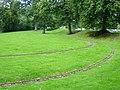 Miniature railway track, Dolerw Park - geograph.org.uk - 991910.jpg