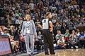 Minnesota Lynx head coach, Cheryl Reeve on the sidelines of the Lynx vs Mystics game.jpg