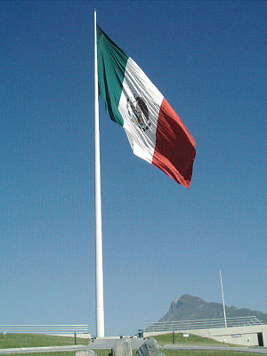Banderas monumentales - With a pole height of 100.6 and a flag measuring 50 by 28.6 meters Monterrey's bandera monumental is the tallest in Mexico.