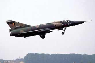 Second Allied Tactical Air Force - A Mirage 5BR of 42nd Squadron takes off in 1989