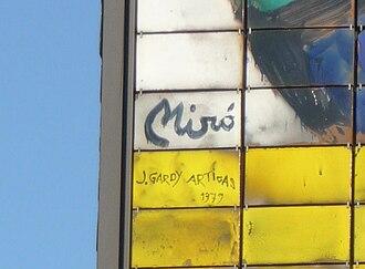 Miró Wall - Image: Miro Wand (Signaturen)