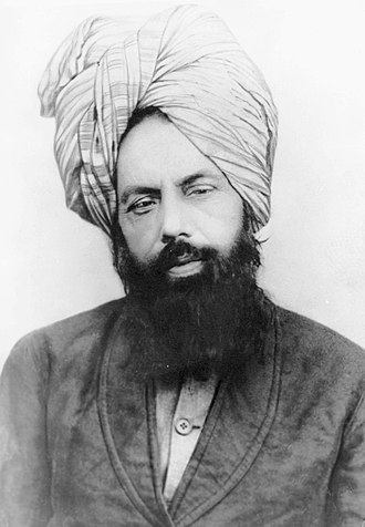 Mirza Ghulam Ahmad - Image: Mirza Ghulam Ahmad (c. 1897)