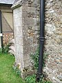 Miss-placed mass dial on north side of Holy Cross church - geograph.org.uk - 1468969.jpg