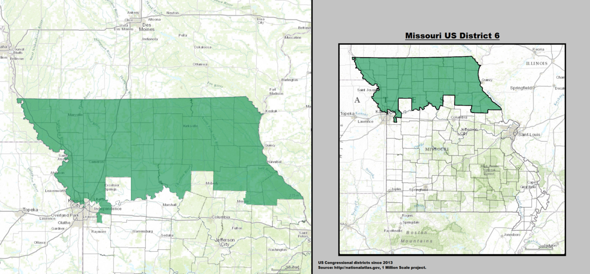 Missouris 6th Congressional District Wikidata - Missouri-us-house-district-map