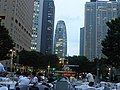 Mode Gakuen Cocoon Tower evening from a distance - july 22 2016.jpg