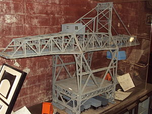 Wirral Transport Museum - A model of one of the former Bidston Dock cranes