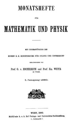 Monatshefte für Mathematik – Wikisource