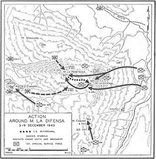 Battle for Monte la Difensa battle during the Italian Campaign in World War II