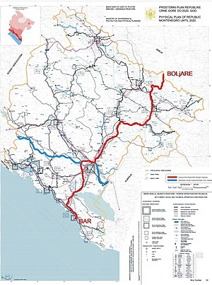 Montenegro motorways