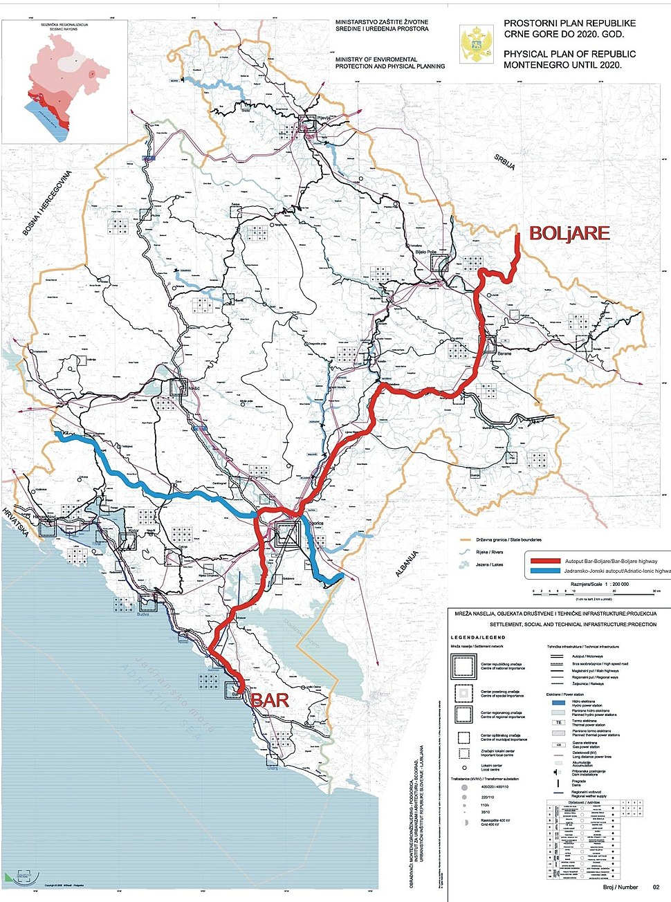Montenegro motorways