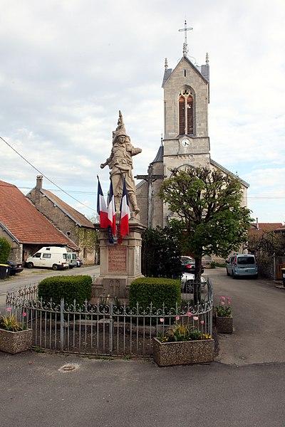 Monument aux morts de Montrond-le-Château (Doubs).