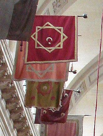 Rub el Hizb - Image: Moroccan flags at the Invalides
